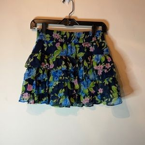 COPY - Abercrombie &Fitch blue Floral Skirt